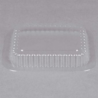 Plastic Dome Lid for 1 LB. Oblong Pan-1000/Case - Paper Supplies Plus