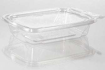 12oz Rectangular Tamper-Evident Container (280 Per Case)