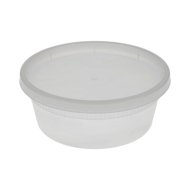 Pactiv 8oz Heavy Weight Deli Container Combo (240/CS)
