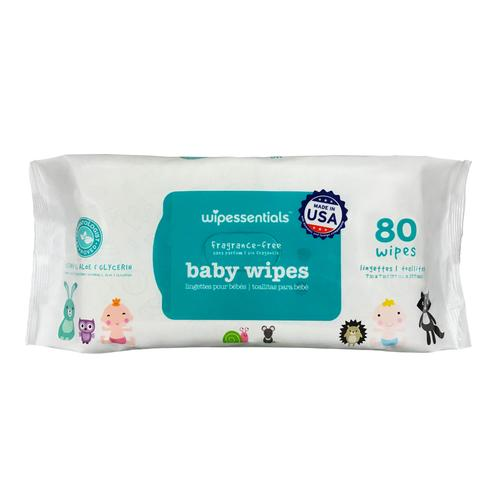 Wipessential Wipes Unscented 12 Packs (80 Wipes Per Package) - Paper Supplies Plus