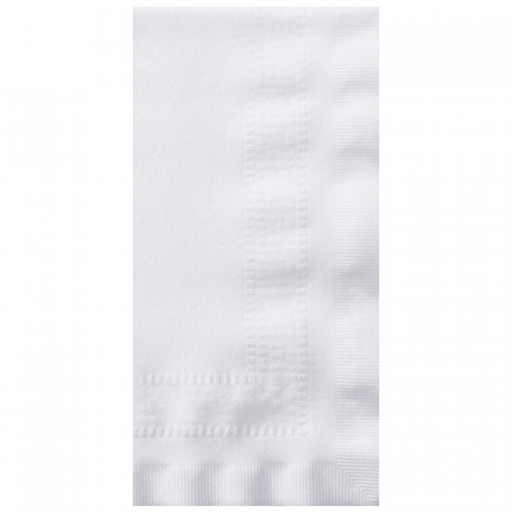 White Linen-Like® Dinner Napkins - Paper Supplies Plus