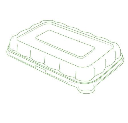 "8.5"" X 5.5"" DOME LID FOR 24/32 OZ. RECTANGLE BOWLS (300 PER CASE)"