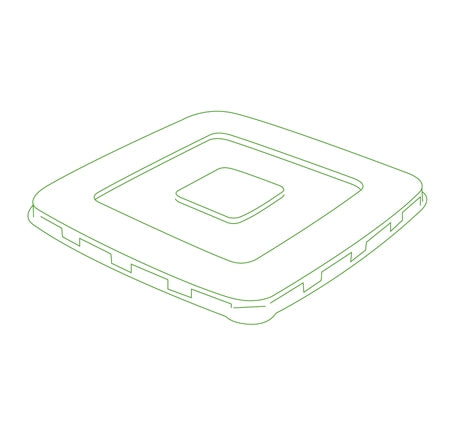 "7"" FLAT LID FOR SQUARE BOWLS (300/CS)"