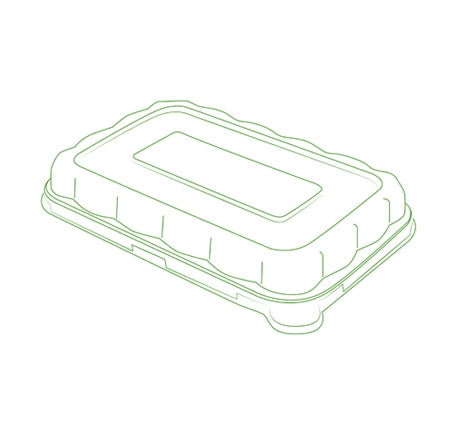 "7"" X 4.5"" DOME LID FOR 12/16 OZ. RECTANGLE BOWLS (600 PER CASE)"