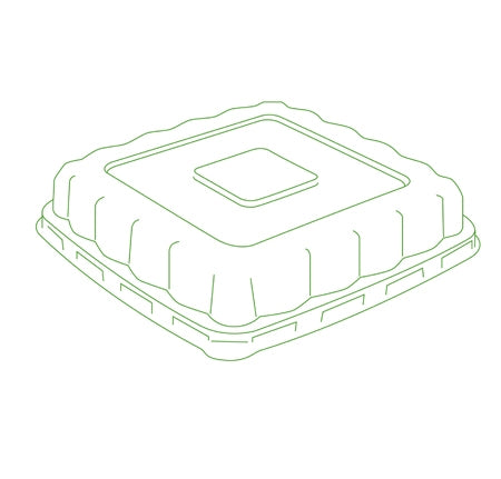 "7"" DOME LID FOR SQUARE BOWLS (300/CS)"