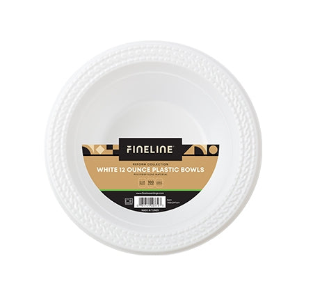 12OZ WHITE PLASTIC BOWL, POLYPROPYLENE (800 PER CASE)