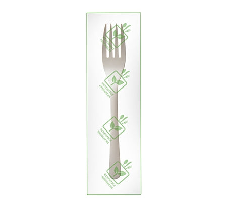 "Individually Wrapped 6"" Fork, PSM (PLANT STARCH MATERIAL) (750/CASE)"