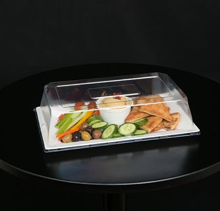 "12"" X 7"" - DOME LID W/VENT FOR RECTANGULAR PLATE (120/CS)"