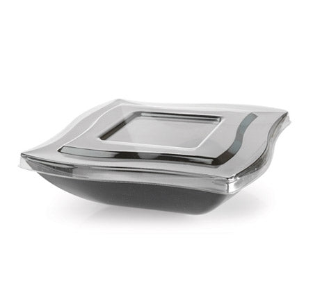 Lid for 64 oz. Wave-trends Square Serving Bowl (48/CS) - Paper Supplies Plus