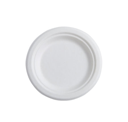 "7"" ROUND COMPOSTABLE PLATE (1000/CS) - Paper Supplies Plus"