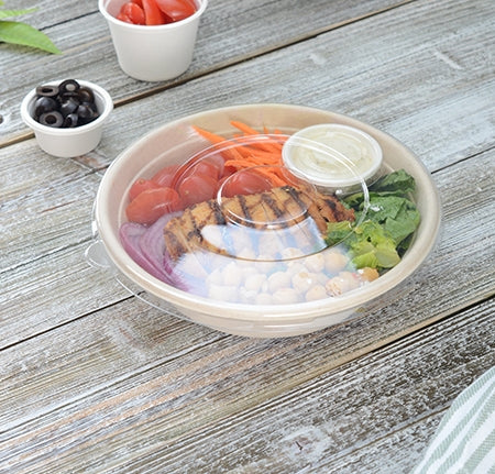 "8"" FLAT LID FOR ROUND BOWLS (300/CS)"