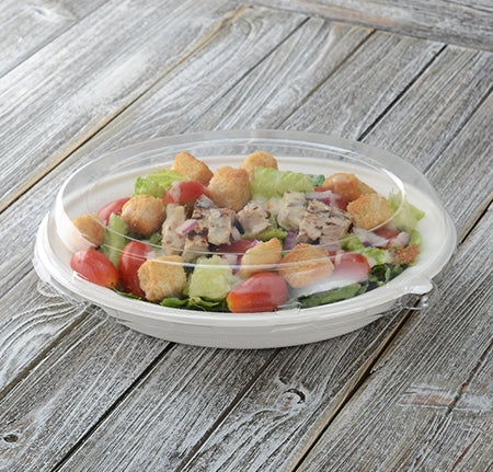 "10"" X 7.5"" DOME LID FOR 32 OZ. OVAL BOWL (250 PER CASE)"