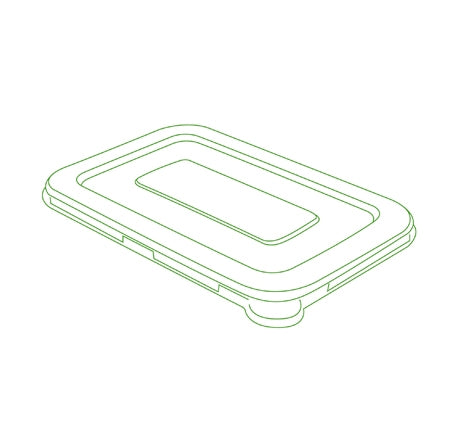 "7"" X 4.5"" FLAT LID FOR 12/16 OZ. RECTANGLE BOWLS (600 PER CASE)"