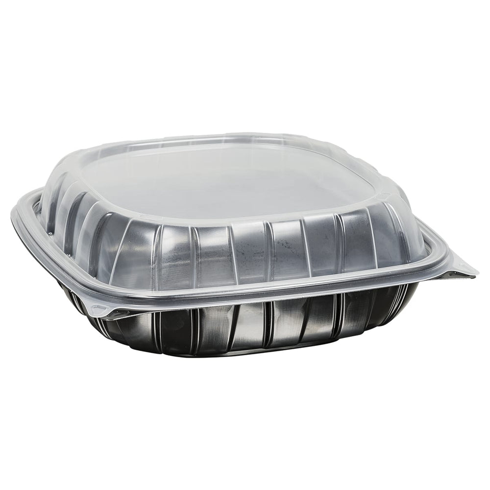 "9"" Rigid Microwavable Carry Out Container (112 Per Case)"