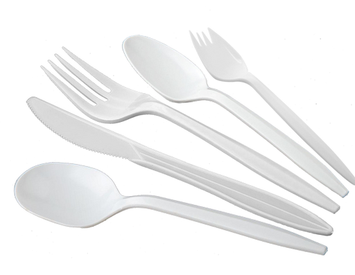 MEDIUM WEIGHT PP SPORKS DISPOSABLE, WHITE, BULK PACKED-(1000/CS) - Paper Supplies Plus