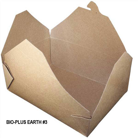 Bio-Plus Earth #3 Container (200/CS) - Paper Supplies Plus
