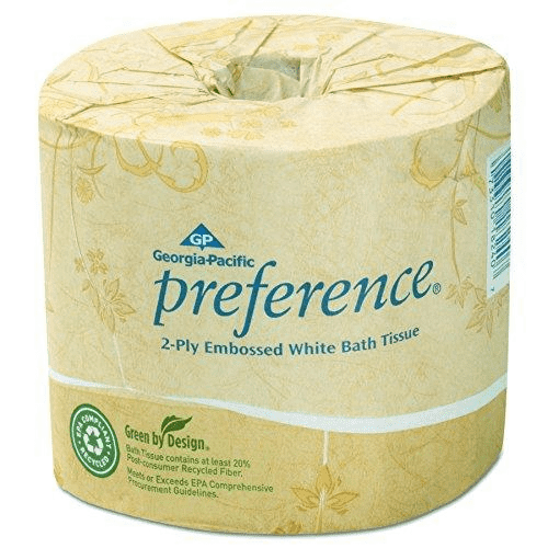 Georgia-Pacific Preference  2-Ply Embossed Bathroom Tissue, (80-ROLLS) - Paper Supplies Plus
