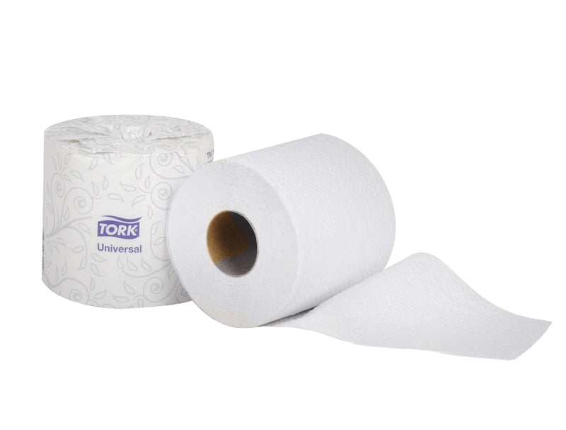"Tork Universal TM1616S Bath Tissue Roll, 2-Ply, 4"" Width x 3.75"" Length, White (Case of 96 Rolls, 500 per Roll, 48,000 Sheets) - Paper Supplies Plus"