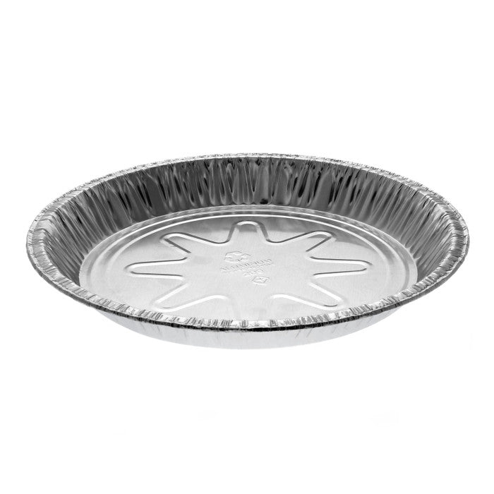 "9"" Aluminum Medium Pie Plate, Silver, 400 Ct. (Pactiv Y20940)"