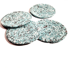 Load image into Gallery viewer, Teal Bandana Fabric Coasters, Handmade, Set of 4, Made to Order - 43 Boho Street