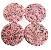 Load image into Gallery viewer, Pink Bandana Fabric Coasters, Handmade, Set of 4, Made to Order - 43 Boho Street