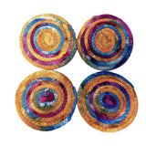 Tie Dye Fabric Coasters, Set of 4, Made to Order - 43 Boho Street
