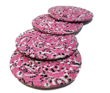 Load image into Gallery viewer, Hot Pink Bandana Fabric Coasters, Handmade, Set of 4, Made to Order - 43 Boho Street