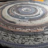 3' Colorful Round Rug, Handmade to Order YOU Choose Colors! Gypsy Boho Bohemian Upcycled - 43 Boho Street