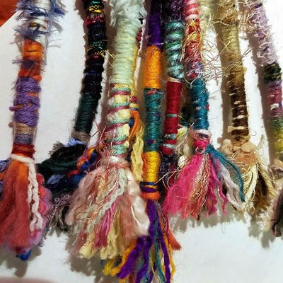 Hair Tassel, Handmade, MULTICOLOR, Qty: 1, Random Colorful Bohemian Hair Wrap