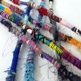 Hair Tassel, Handmade, MULTICOLOR, Qty: 1, Random Colorful Bohemian Hair Wrap hair tassels- 43 Boho Street