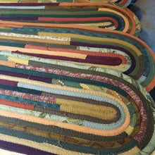 Load image into Gallery viewer, Stair Runners: Jeweled Pattern Multicolor -You Choose Size, Color, Custom Handmade treads- 43 Boho Street