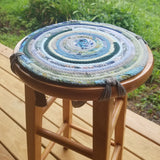 Custom Barstool Cover, Chair Pad, Round, Handmade, You Choose Size & Color - 43 Boho Street