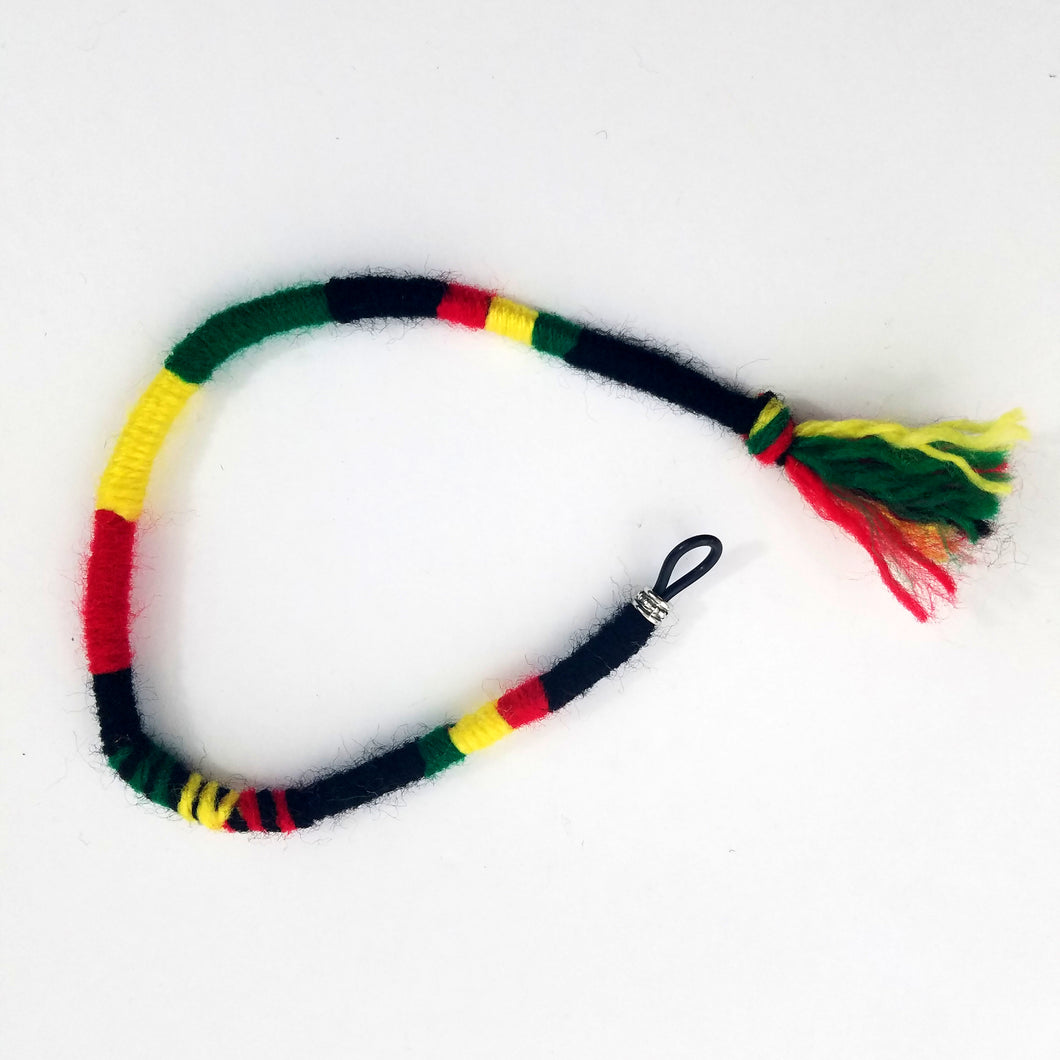 Rasta Colors Hair Wrap Accessory Hippie Colors for Dreadlocks and Braids