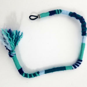 Turquoise/Teal Hair Wrap Accessory Hippie Colors for Dreadlocks and Braids