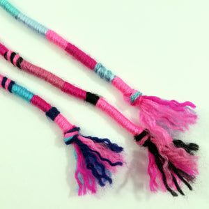 Dark/Bright/Hot Pink Hair Wrap Accessory Hippie Colors for Dreadlocks and Braids You Choose Colors