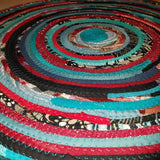 4 Colorful Round Rug Handmade To Order You Choose Colors! Gypsy Boho Bohemian Upcycled