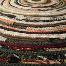 Load image into Gallery viewer, 5 Colorful Round Rug Handmade To Order You Choose Colors! Gypsy Boho Bohemian Upcycled