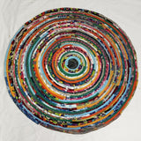 5 Colorful Round Rug Handmade To Order You Choose Colors! Gypsy Boho Bohemian Upcycled