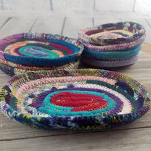 Load image into Gallery viewer, Fabric Soap Coaster/Soap Dish Handmade Multicolor