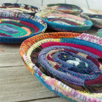 Fabric Soap Coaster/Soap Dish Handmade Multicolor