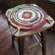 Load image into Gallery viewer, Custom Chair Pads Round Handmade You Choose Size & Color