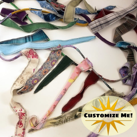 Gypsy Banner Hippie Flag Fabric Rag Garland Choose Your Length Bohemian Decor Upcycled Materials