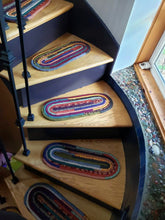 Load image into Gallery viewer, CUSTOM Stair Treads & Carpet Runners: You Choose Size, Color, Pattern, Oval Shaped Stair Pads