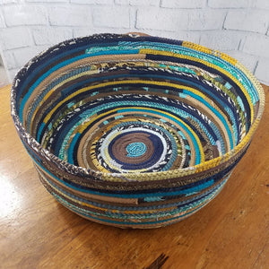 M2O Pet Basket Bed Dog Cat Multicolor Jeweled Extra Large Fabric Bowl Made To Order You Choose