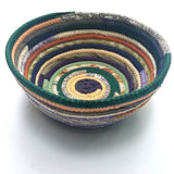 R2S Fabric Bowl Handmade Multicolor Earth Tones
