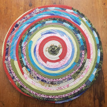 Load image into Gallery viewer, R2S Handmade Bohemian Set Of 2 Round Table Mats 14 Multicolor Boho Colors Ready To Ship