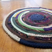 Load image into Gallery viewer, R2S Handmade Bohemian Table Mat 13 Round Dark Multicolors Ready To Ship