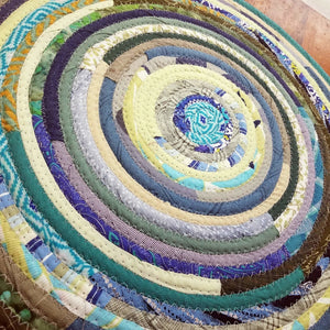R2S Handmade Bohemian Table Mat 16 Round Boho Colors Ready To Ship