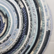 Load image into Gallery viewer, R2S Handmade Bohemian Table Mat 20 Round Shades Of Blue Black Ready To Ship