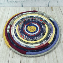 Load image into Gallery viewer, R2S Handmade Table Mat Fabric Placemat 12 Diameter Dark Bohemian Colors Ready To Ship